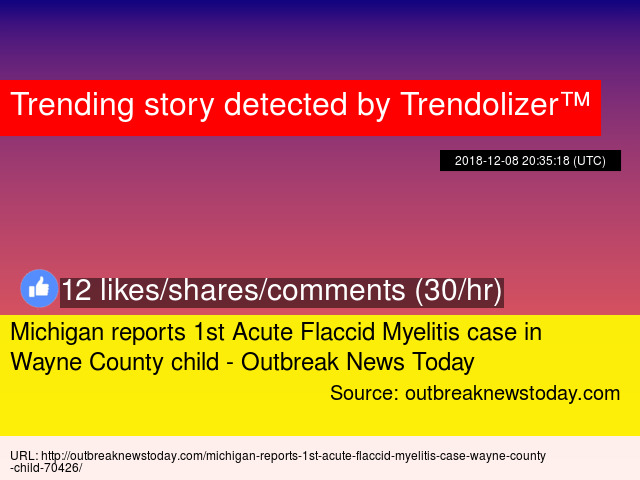 Michigan reports 1st Acute Flaccid Myelitis case in Wayne County