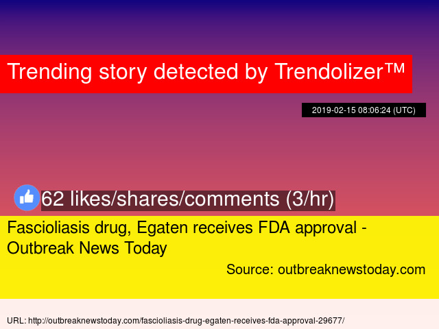Fascioliasis drug, Egaten receives FDA approval - Outbreak News Today
