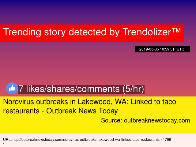 Norovirus outbreaks in Lakewood, WA